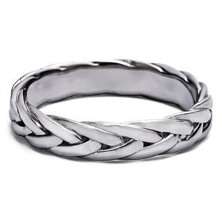 TwoBirch Braided Men's Wedding Ring in Solid Platinum (More options available)