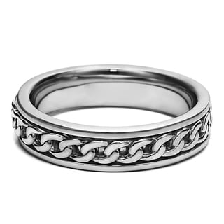 TwoBirch Braided Unique Men's Fashion Wedding Band