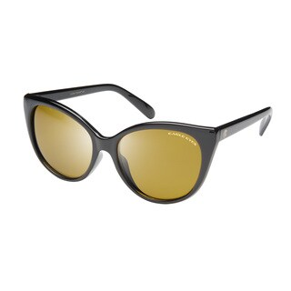 Eagle Eyes Roxie Women's Black/Brown Plastic Sunglasses