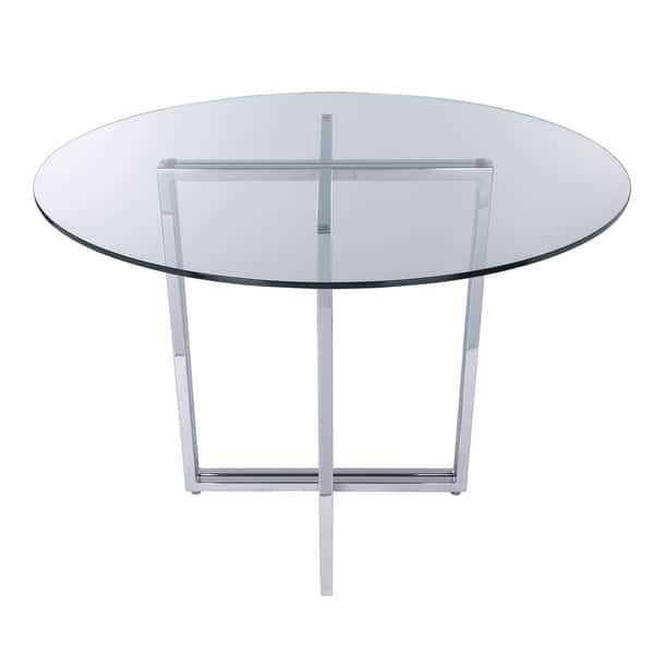 Pleasing Shop Legend Dining Table Base Silver Free Shipping Today Ocoug Best Dining Table And Chair Ideas Images Ocougorg