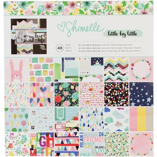 """American Crafts Single-Sided Paper Pad 12""""X12"""" 48/Pkg-Shimelle Little By Little"""
