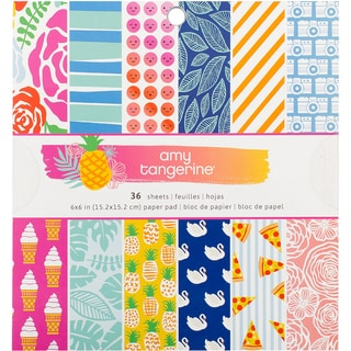 """American Crafts Single-Sided Paper Pad 6""""X6"""" 36/Pkg-Amy Tan On A Whim"""