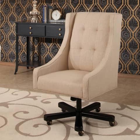 Abbyson Logan Cream Upholstered Office Chair
