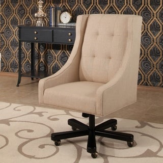 Abbyson Logan Cream Upholstered Office Chair