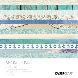 "Kaisercraft Paper Pad 6.5""X6.5"" 40/Pkg-Coastal Escape"