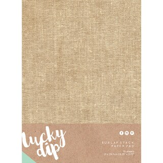 "Lucky Dip Burlap Stack Paper Pad 8.25""X11.75"" 10/Pkg-"