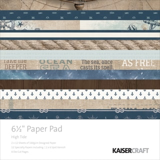 "Kaisercraft Paper Pad 6.5""X6.5"" 40/Pkg-High Tide"