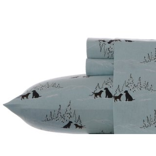 Eddie Bauer Dog Friends Spa Blue Twin Extra Long Sheet Set