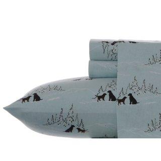 Eddie Bauer Dog Friends Spa Blue Twin Extra Long Sheet Set