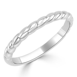 10K Gold Stackable Twisted Rope Ring