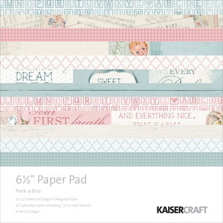 """Kaisercraft Paper Pad 6.5""""X6.5"""" 40/Pkg-Peek-A-Boo"""