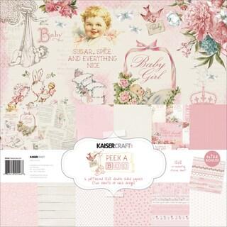 """Kaisercraft Paper Pack 12""""X12"""" 12/Pkg-Peek-A-Boo Girl"""