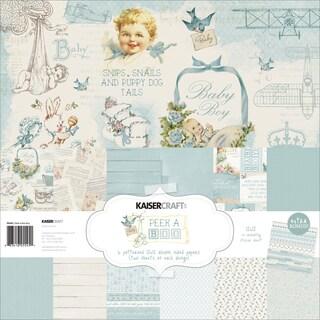 """Kaisercraft Paper Pack 12""""X12"""" 12/Pkg-Peek-A-Boo Boy"""