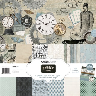 "Kaisercraft Paper Pack 12""X12"" 12/Pkg-Barber Shoppe"