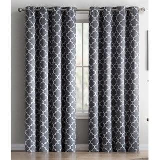 me lattice print blackout grommet curtain panel pair