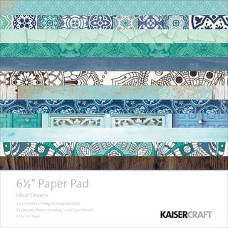 "Kaisercraft Paper Pad 6.5""X6.5"" 40/Pkg-Ubud Dreams"