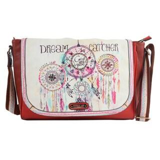 Nicole Lee Spacious Fashion Dream Catcher Print 15-inch Laptop Messenger Bag