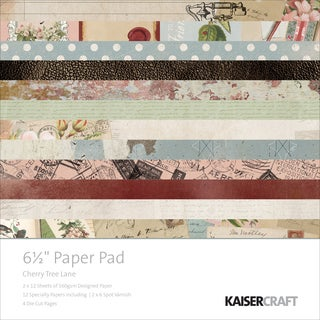 "Kaisercraft Paper Pad 6.5""X6.5"" 40/Pkg-Cherry Tree Lane"