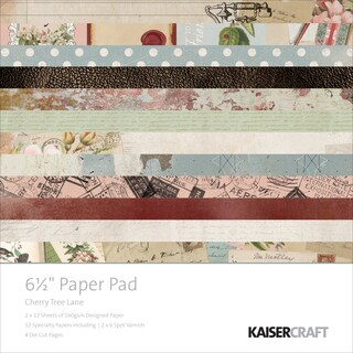 "Kaisercraft Paper Pad 6.5""X6.5"" 40/Pkg-Cherry Tree Lane"