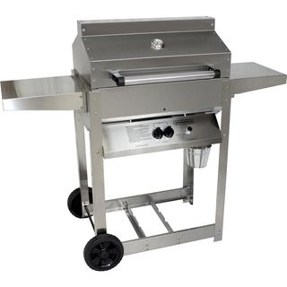 Phoenix Grill SD - Stainless Steel Liquid Propane Riveted Grill Head On Stainless Steel Cart