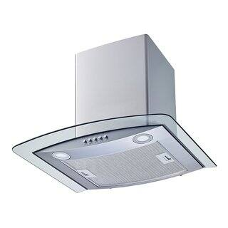 """Winflo O-W102C30 30"""" Convertible Stainless Steel/Tempered Glass Wall Mount Range Hood