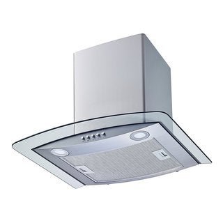 """Winflo O-W102C36 36"""" Convertible Stainless Steel/Tempered Glass Wall Mount Range Hood"""