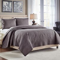 Croscill Crestwood Cotton King Size Quilt in Grey(As Is Item)