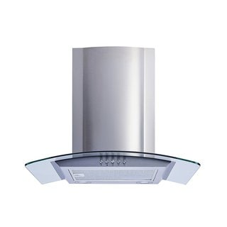 "Winflo O-W101C36 36"" Convertible Stainless Steel/Tempered Glass Wall Mount Range Hood"