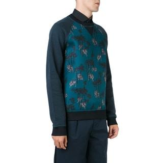 Kenzo Men's Blue Bamboo Tiger Scuba Sweatshirt