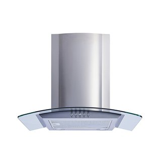 """Winflo O-W101C30 30"""" Convertible Stainless Steel/Tempered Glass Wall Mount Range Hood - Silver"""