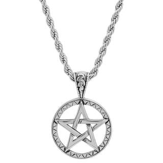 Stainless Steel Star of David Pendant