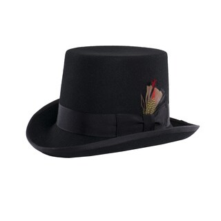 Ferrecci Pilgrim Victorian Black Top Hat (4 options available)