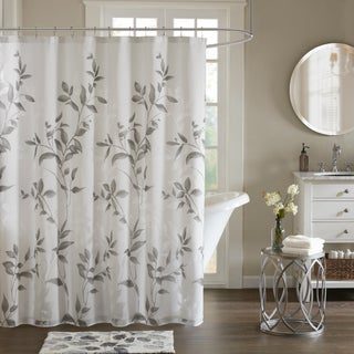 Madison Park Vera Grey Printed Shower Curtain