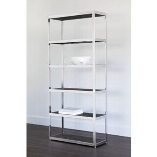 Sunpan Mortimer Stainless Steel/Wood Bookcase