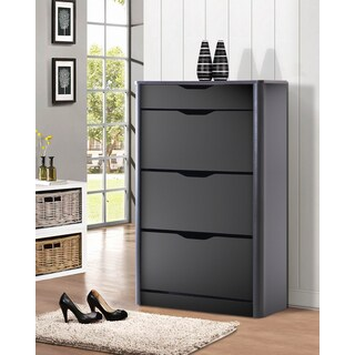 Contemporary Black Wood Storage Cabinet by Baxton Studio