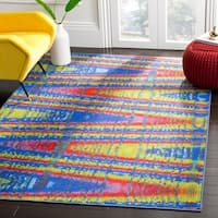 Safavieh Aztec Southwestern Abstract Blue/ Multi Area Rug - 4' x 6'