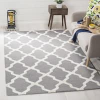 Safavieh Cambridge HandWoven Wool Contemporary Geometric Grey/ Ivory Area Rug - 3' x 5'