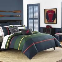 Nautica Heritage Classic Stripe Navy Comforter Set