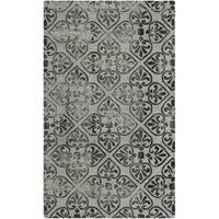 Safavieh Dip Dye HandWoven Wool Modern Geometric Grey Area Rug - 3' x 5'