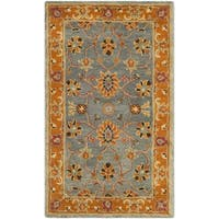 Safavieh Heritage HandWoven Wool Traditional Oriental Blue/ Orange Area Rug - 3' x 5'