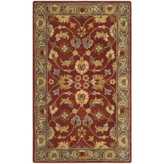 Safavieh Heritage HandWoven Wool Traditional Oriental Red/ Blue Area Rug - 3' x 5'
