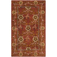 Safavieh Heritage HandWoven Wool Traditional Oriental Red/ Multi Area Rug - 3' x 5'