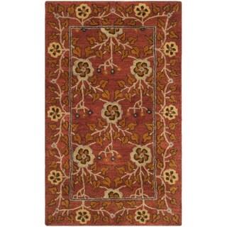 Safavieh Heritage HandWoven Wool Traditional Oriental Red/ Multi Area Rug - 3' x 5'