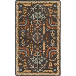 Safavieh Heritage HandWoven Wool Traditional Oriental Charcoal/ Multi Area Rug (3' x 5')