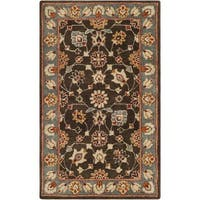 Safavieh Heritage HandWoven Wool Traditional Oriental Charcoal/ Blue Area Rug - 3' x 5'