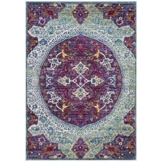 Safavieh Sutton Nilgul Boho Oriental Polyester Rug (4 x 6 - Purple/Turquoise)