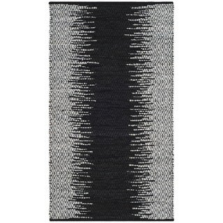 Safavieh Vintage Leather Hand-Woven Modern Geometric Light Grey/ Black Area Rug - 3' x 5'