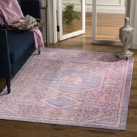 Safavieh Windsor Cotton Transitional Geometric Lavender/ Fuchsia Area Rug - 3' x 5'
