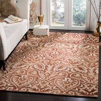 Safavieh Dip Dye HandWoven Wool Modern Geometric Copper/ Beige Area Rug - 5' x 8'