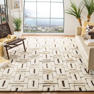 Safavieh Kenya HandWoven Cotton Transitional Oriental Ivory/ Brown Area Rug (6' x 9')